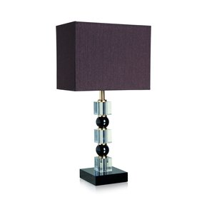Totem Crystal & Black Table Lamp - Dettagli Lights - Treniq