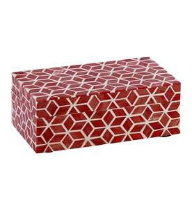 Starshine Box Large in Marsala Red