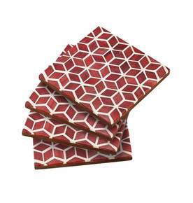 Starshine Coaster Set in Marsala Red