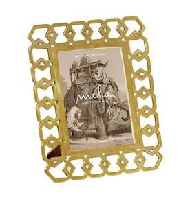 Monroe Frame in Brass and Mother of Pearl