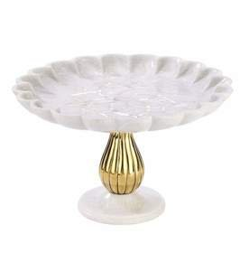 Noor Cake Stand in Marble and Brass