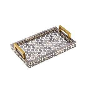 Gramercy Tray Small in Grey and White