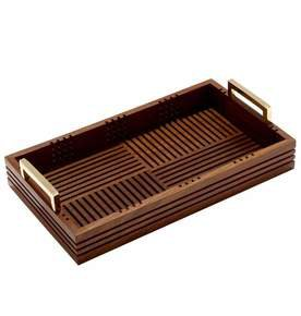 Tribeca Tray Small in Medium Polish