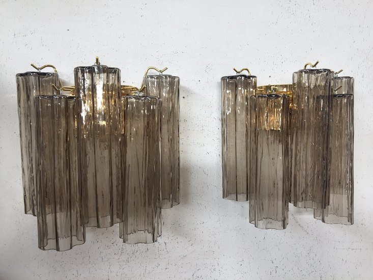 Pair of 2 murano glass wall sconces with tronchi il paralume marina treniq 1 1528990466716