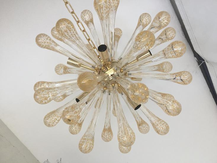 Sputnik gold and transparent murano glass chandelier il paralume marina treniq 3 1529044602820