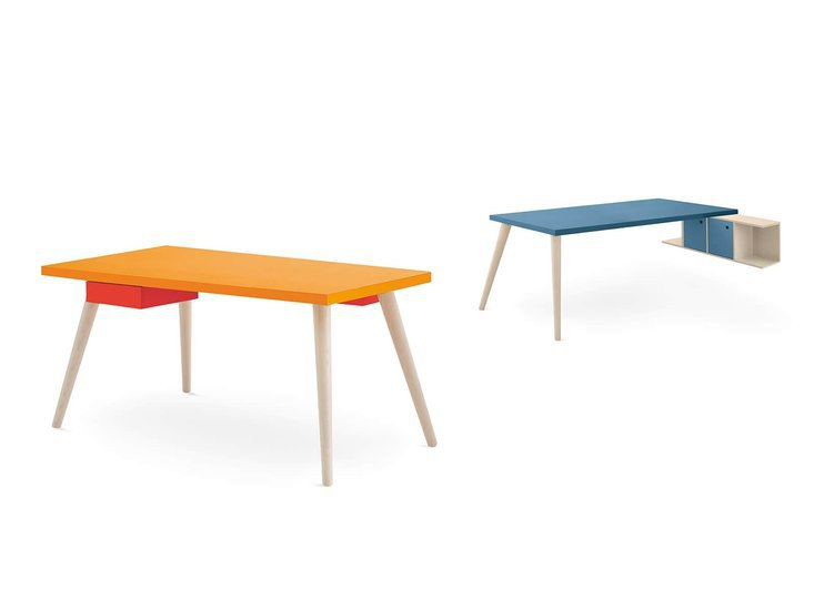 Desk with woody legs by nidibatis fci london treniq 1 1529314560388