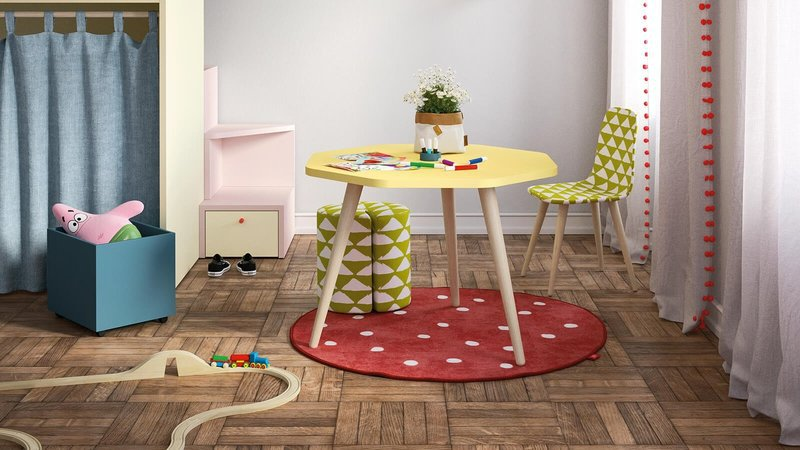Desk with woody legs by nidibatis fci london treniq 1 1529314560390