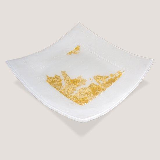 Kiln glass tray with gold leaf i progetto arte poli treniq 2 1530165045634