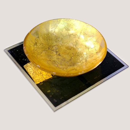 Kiln glass tray with gold leaf progetto arte poli treniq 2 1530165067067