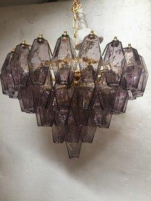 "Chandelier-Murano-Glass-Violet-""Poliedro""-_Il-Paralume-Marina_Treniq_0"