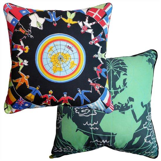 World peace travel vintage cushions treniq 1 1530212143862